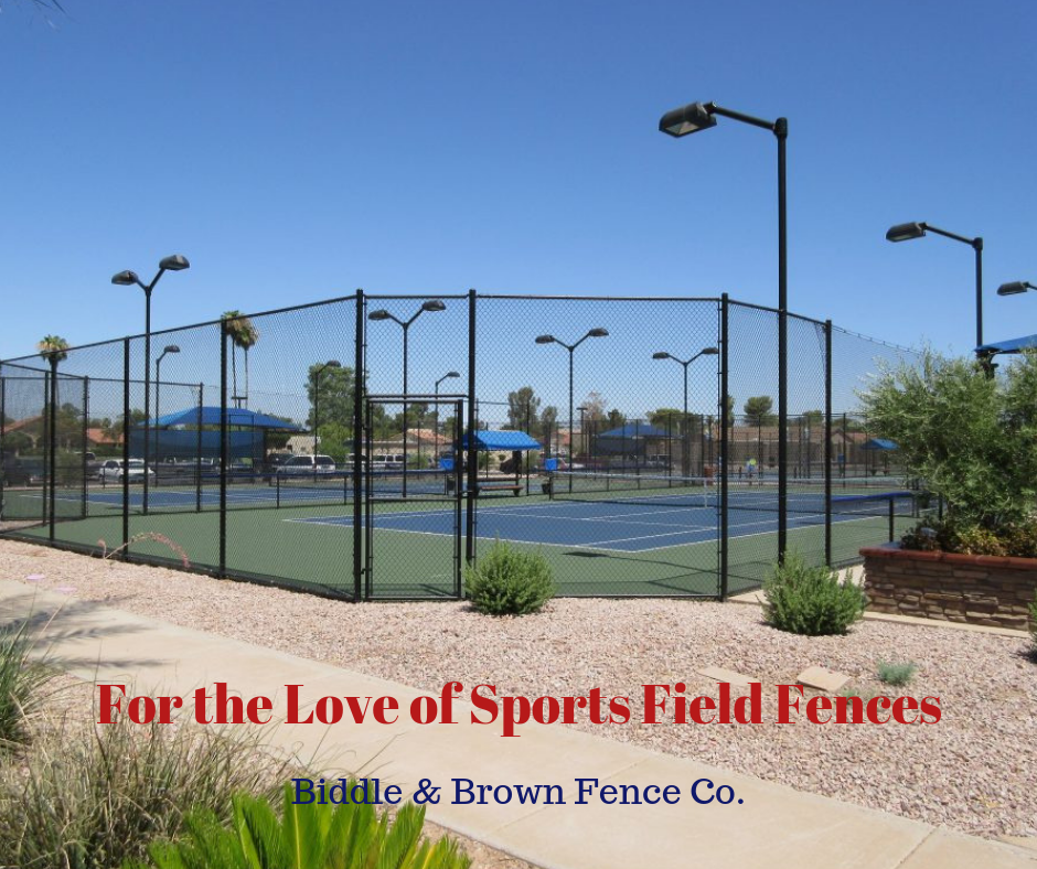 sports field fences