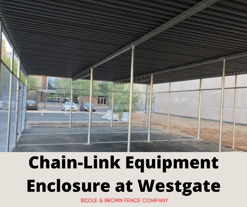 chain-link equipment enclosure